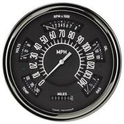 Classic Instruments Six Pack Gauge 1949-50 Ford Black