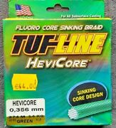 Tuf-line Hevicore Fluro Core Sinking Braid- 300yds - Made In Usa