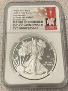 2020 W V75 Silver Eagle Proof Pf70 Ngc Ultra Cameo Early Releases End Ww2
