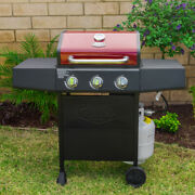 Grill Boss 3 Burner Barbecue Smoker Propane Gas Bbq Grill 720-0988ed Outdoor New