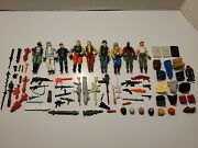 Lot Of Vintage 1980s Gi Joe Action Figures W/a Bunch Of Accessories Hasbro