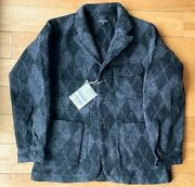 Engineered Garments Benson Jacket Argyle Wool Dobby Menand039s Size S New With Tags