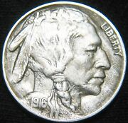 Sharp Date/horn Original 1916-p Buffalo Nickel 5andcent Combined Sandh Available Hf11rx