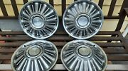 Vintage Ford 14 Inch Hubcaps All 4 Used Oem