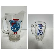 Vintage Old Style Heavy Clear Glass Bar Beer Pitcher Heavy Mug Iandrsquove Got Style