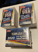 2020 Topps Team Usa Olympic And Paralympic Blaster Box Factory Sealed Lot Of 3