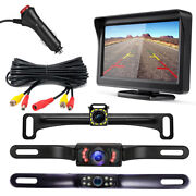 Ftont/rear View Backup Camera And 4.3 Inch Lcd Monitor + Cigarette Lighter Switch