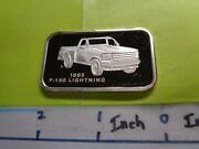 Ford 1993 F-150 Lightning Pick Up Classic Truck Series 999 Silver Bar Very Rare