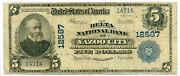 Fr. 609 1902 Pb 5 Ch 12587 National Bank Note Yazoo City Mississippi Fine