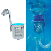 Pool Wall Mount Surface Skimmer Flotation Automatic Cleaning Basket Debris