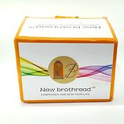 40 Brother Colors Polyester Thread Kit 500m Spool For Embroidery Sewing Machines