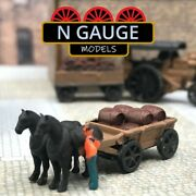 Horse And Cart - Distillery Brewery / Barrels N Gauge Scale 1148 Ready To Go
