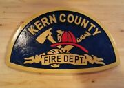 Fire Department Kern County 3d Routed Award Plaque Patch Sign Custom Carved