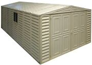 Duramax 10and039 X 20and039 Vinyl Garage Storage Shed With Foundation Kit
