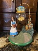 Disney Beauty And The Beast Belle Hanging Snow Globe Rare Ornament