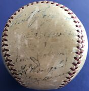 1952 American League Autographed All Star Baseball Early Mickey Mantle Worn