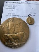 Ww1 Memorial Plaquepolished And Victory Medal 92081 Pte H Wood Dli Kia 14/7/18