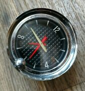 1957 Pontiac Clock Fully Reconditioned Excellent Running