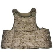 New Aor1/nwu Type 2 Rbav Releasable Body Armor Vest W/ 3a Soft Armor Inserts