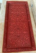 20th Century Carved Cinnabar Lacquer Huge 41cm Tray Top And Rar
