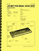 Roland Jx-8p And Pg-800 Service Notes