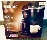 New Seal Keurig K-duo 12-cup Coffee Maker And Single Serve K-cup Brewer - Black