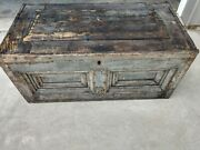 Vintage Blue Carpenters Tool Chest Lots Of Detail.