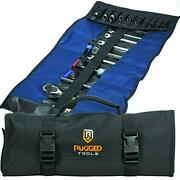 32 Pocket Tool Roll Organizer - Wrench Organizer And Tool Pouch - Wrench Roll