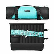"""Tool Pouch / Wrench Organizer, 22 Pockets, 24.4"""" X 14.2"""", Tool Roll Bag For"""