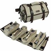 Large Tool Roll Organizer, Roll Up Pouch Bag Zipper Wrench Tool Roll Up Bag