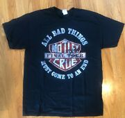 Authentic New Motley Crue Final Show Ever Los Angeles Nye Concert Tee Size L