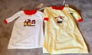 Hello Kitty Flannel Night Shirts 2 Vintage Collectible Children's Clothing. 1976