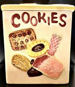 Cookies All Over Fred Roberts Co. San Francisco Napco Japan. Cookie Jar
