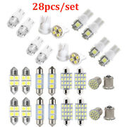 28x Car Interior Led Light Package Map Dome License Plate Mixed Accessories Kits