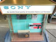 Rare Vintage Sony Transistor Radio Lighted Display Case Beautiful And Working