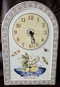 Sarah's Garden Wall Clock Hanging Dome Works Butterfly Apple Scroll Wedgwood