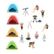 1/64 Figure Doll Outdoor Camping Barbecue Bbq Scenes Building Kits Layout