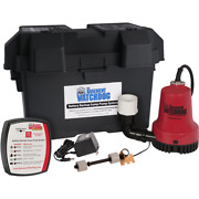 Emergency Battery Backup Sump Pump System 12-volt Battery Powered Dual Float