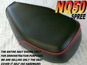 Nq50 Spree Replacement Seat Cover For Honda Nq 50 With Red Piping 007b