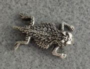 Retired James Avery Sterling Silver Horned Toad Lizard Mens Tie Tack Hat Pin