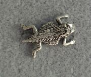 Retired James Avery Horned Toad Mens Tie Tack Hat Pin Sterling Silver Ruby Eyes