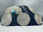 621 Gram Spiderweb Vintage Navajo Turquoise Sterling Silver Concho Belt- Wow