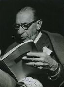 Igor Stravinsky Signed Photograph With Oedipus Score Composer