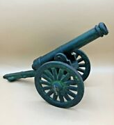 Antique Victorian Cast Iron Miniature Display Cannon 16 Long