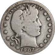 1902-s Barber Quarter Great Deals From The Executive Coin Company
