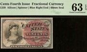 Unc 10 Cent Fractional Currency United States Note Paper Money Fr 1259 Pmg 63epq