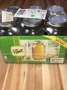 Ball Wide Mouth Canning Mason Jars Half Gallon Clear Glass Jar 64oz Pack Of 6