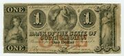 1861 1 The Bank Of The State Of South Carolina Note - Civil War Era