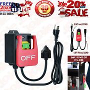 110v Single Phase On/off Switch, Router Table Switch With Large Stop Sign