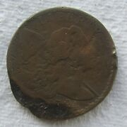 1794 Liberty Cap Flowing Hair Large Cent Fine Detail Chocolate Brown Damaged